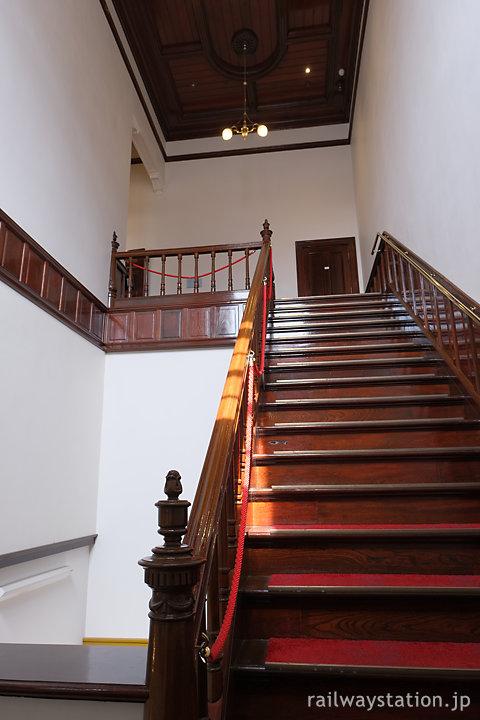 門司港駅駅舎、2階貴賓室と食堂への階段