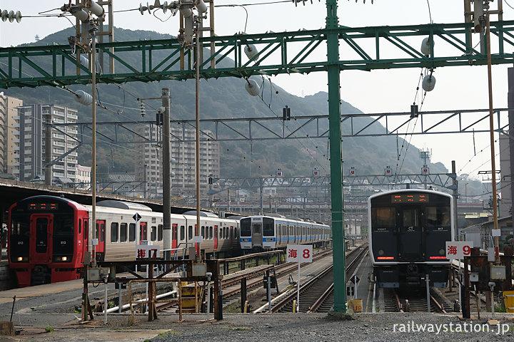 JR九州・鹿児島本線・門司港駅、隣接する車両留置線