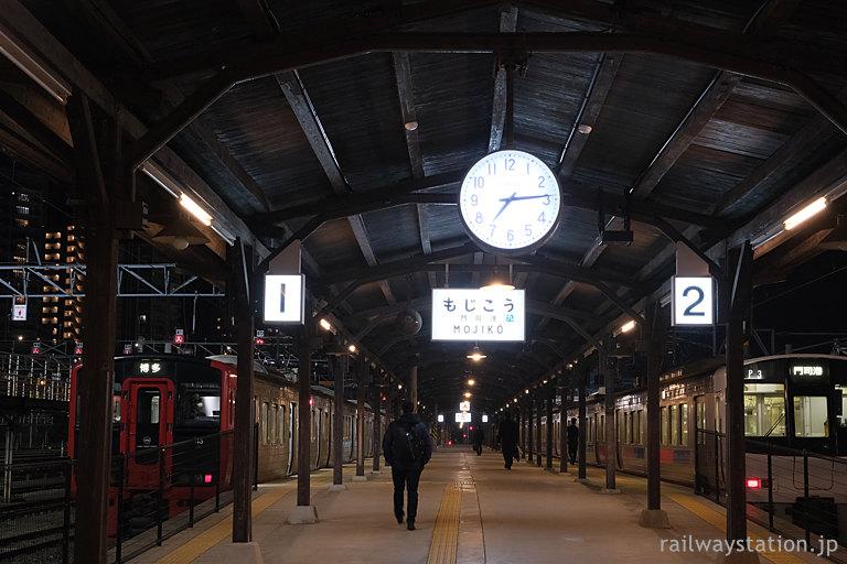 夜汽車の風情溢れるレトロな門司港駅ホーム