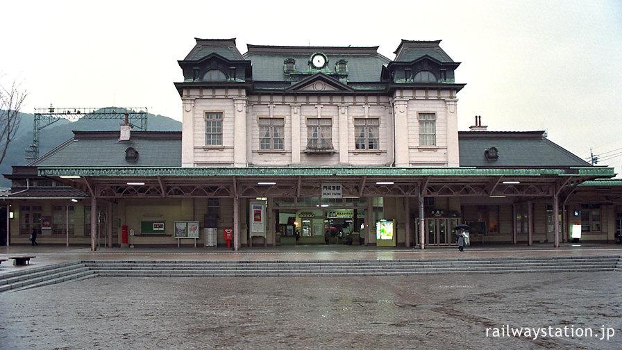 大改修前の門司港駅の駅舎。