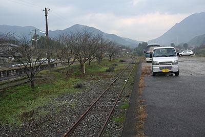 JR九州・日田彦山線・採銅所駅、側線ホーム跡