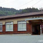 JR東海・名松線、伊勢奥津駅、昭和10年の開業以来の木造駅舎