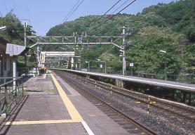 JR東海・中央本線(中央西線)の秘境駅、古虎渓駅のプラットホーム