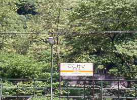 JR東海・中央本線(中央西線)、深い緑に包まれた秘境駅、古虎渓駅