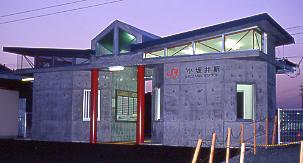 JR東海・飯田線・小坂井駅、新しく建てられた簡易駅舎