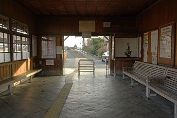 東海道本線赤坂支線・美濃赤坂駅の待合室
