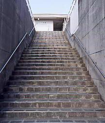 JR飯田線・下地駅への階段