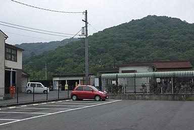 吉備線・備前一宮駅前の駐車場