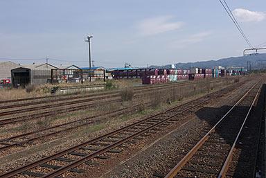 山陰本線・東松江駅隣接、JR貨物の駅東松江オフレールステーション