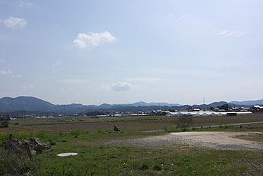 JR西日本・山陰本線・東松江駅南側に広がる空地や農地