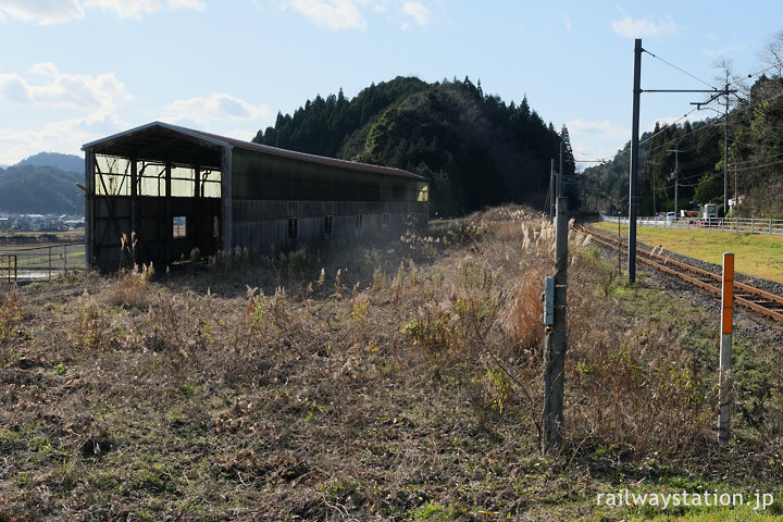 JR小浜線・松尾寺駅、側線跡など広い構内