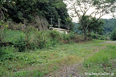 JR西日本・山陰本線・湯里駅の側線ホーム跡