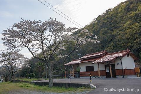 JR西日本・山陰本線・湯里駅、側線跡に建てられた新駅舎