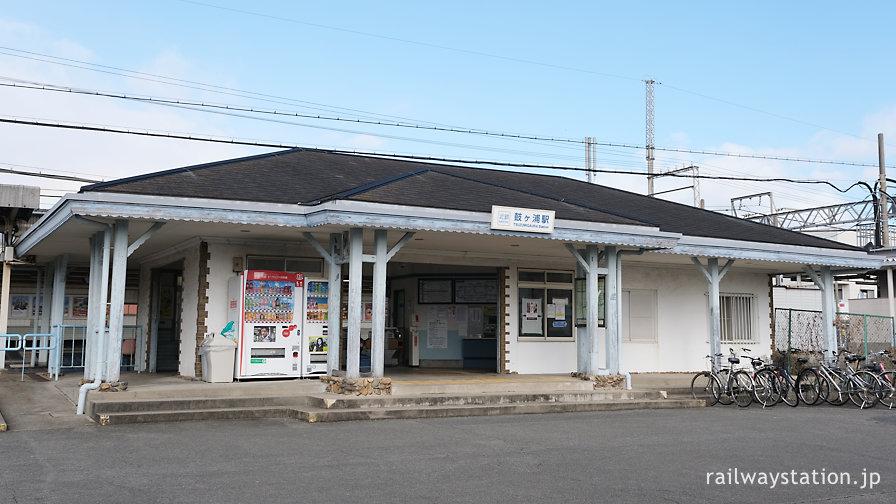 近鉄名古屋本線・鼓ヶ浦駅、小洒落た木造駅舎が現役
