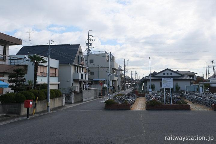 近鉄名古屋本線・鼓ヶ浦駅、駅前の風景