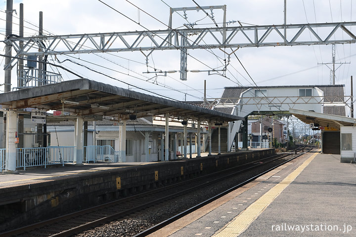 近鉄名古屋本線・鼓ヶ浦駅、2面2線の相対ホーム