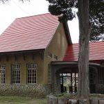 国鉄日中線・熱塩駅'(現・日中線記念館)。昭和13年築の洋風木造駅舎