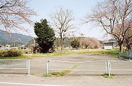 国鉄東海道本線・新垂井駅、駅舎跡地
