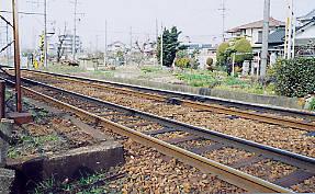 名鉄の廃駅、瀬戸線の平池駅跡、ホームの痕跡が残る