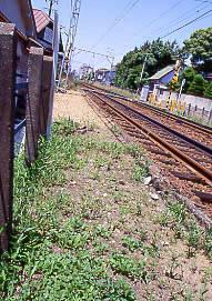 名鉄瀬戸線・笠寺道駅跡、駅舎に面した上りホームの痕跡