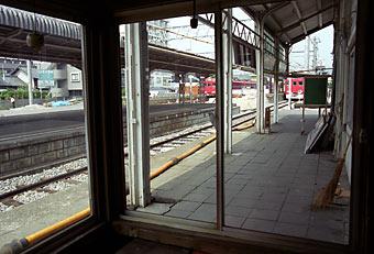 名鉄・瀬戸線・尾張瀬戸駅、旧駅舎プラットホーム