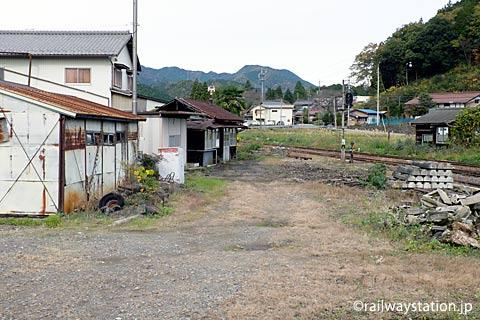 長良川鉄道・大矢駅、駅構内の詰所など建物
