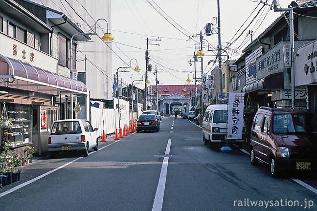 南海本線、大阪府堺市にある浜寺公園駅、駅前の商店街