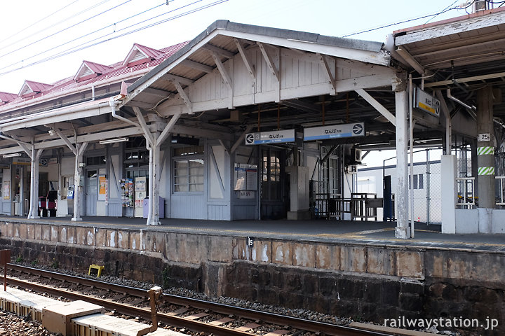 南海電鉄・浜寺公園駅、駅舎に付随する屋外の改札口