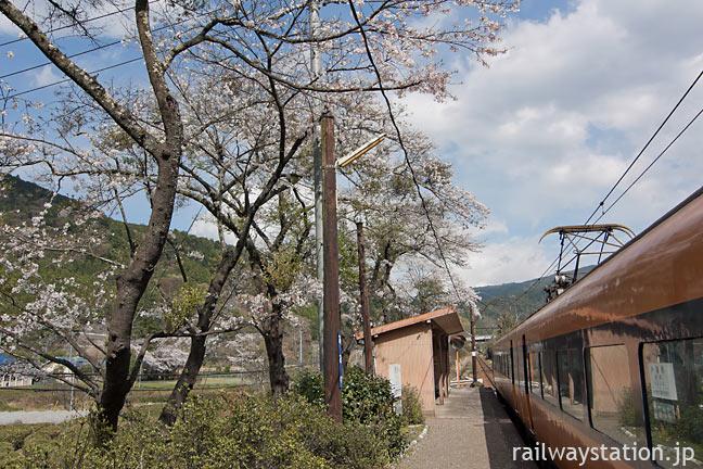 大井川鉄道・青部駅に入線した元近鉄の特急車16000系