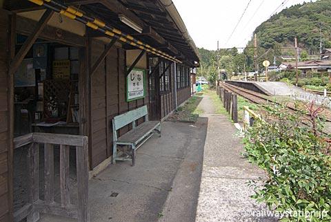 大井川鉄道・地名駅の木造駅舎、ホーム側