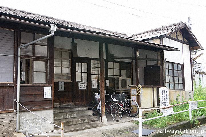 宮島線・広電廿日市駅、木造駅舎らしい側面