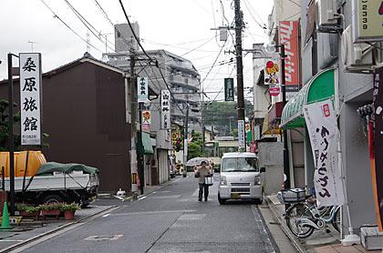 広島県廿日市市、広電廿日市駅前の街並み