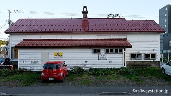 定山渓鉄道・旧石切山駅、駅舎ホーム側