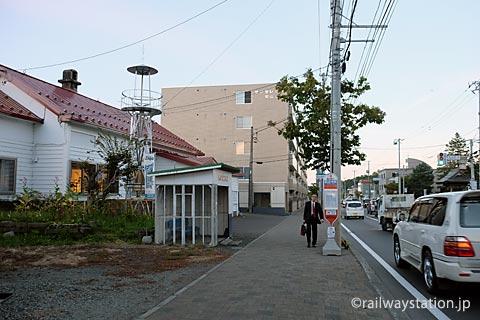 札幌市南区石山、旧石切山駅とじょうてつバス石山中央停留所。