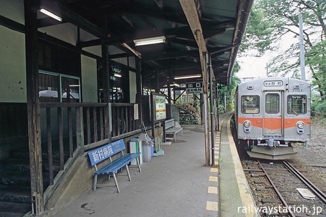 北陸鉄道・石川線の終点・加賀一の宮駅、元東急の7000系電車