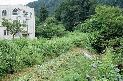 北陸鉄道・加賀一の宮駅近く、金名線の廃線跡