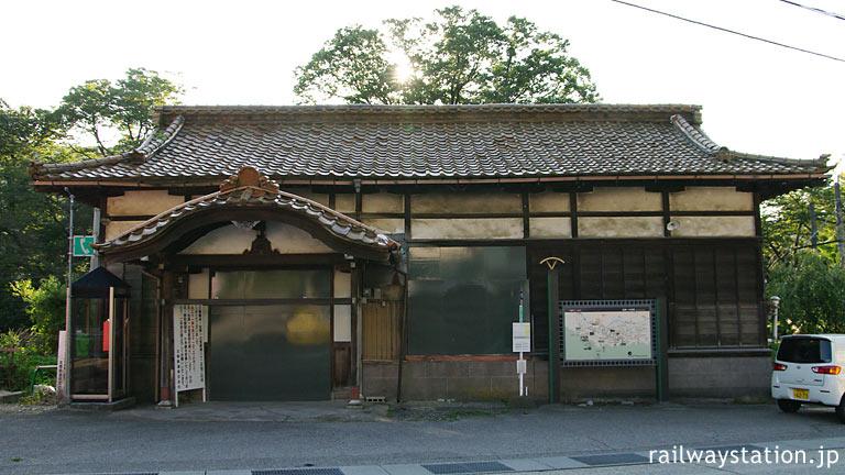 北陸鉄道・石川線末端部廃線で廃駅となった加賀一の宮駅の駅舎(2010年)