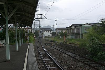 上田電鉄・別所線・中塩田駅、廃ホーム