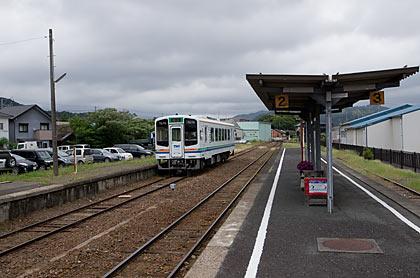 天竜浜名湖鉄道・遠州森駅プラットホーム