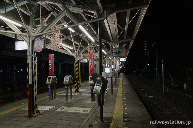東武鉄道・伊勢崎線・旧駅舎時代の伊勢崎駅ホーム