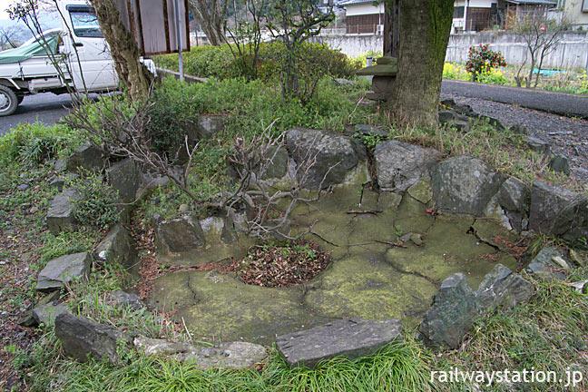 若桜鉄道・若桜線・安部駅の枯池