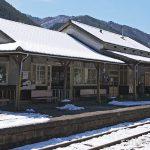 わたらせ渓谷鉄道・足尾駅、堂々とした木造駅舎