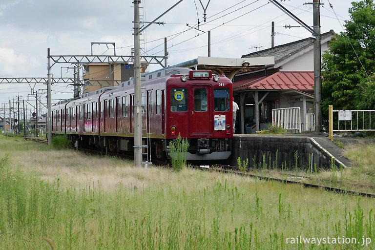 養老鉄道・揖斐駅、元近鉄車の610形が停車中
